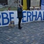 Achim Weber auf einer Demo